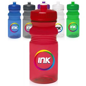 20 oz. Push Cap Bike Water Bottles