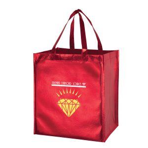 Metallic Gloss Designer Grocery Tote Bag
