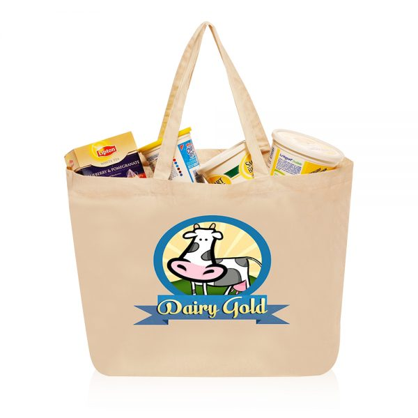 14W x 16H inch Large Cotton Shopping Bags ATOT211