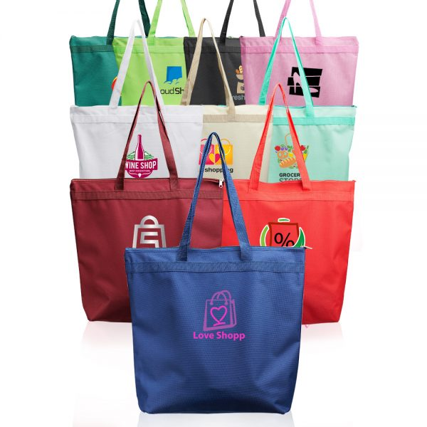 Oversized Candid Tote Bags with Zipper A104CB