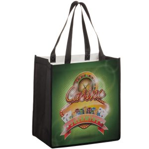 SUB12813 Dye Sublimation PET Non Woven Sublimated Grocery Bag