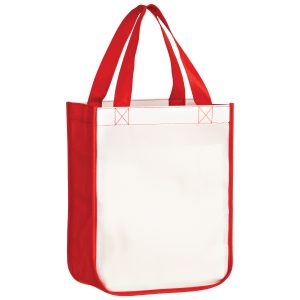 SUBL9411 Dye Sublimation OPP Laminated Non Woven Sublimated Rounded Bottom Tote Bag