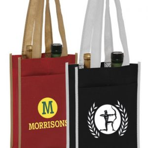 Two Bottle Non-Woven Wine Bags ATOT120