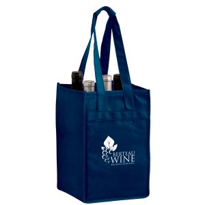 Vine4 Four Bottle Reusable Wine Bags Bulk