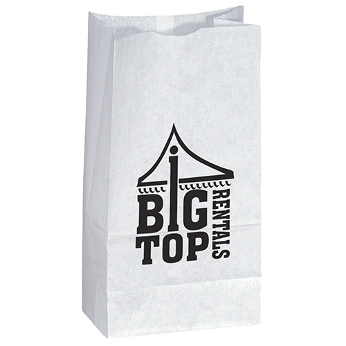 Popcorn Bag White