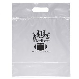 Zip Closure Die Cut Handle Bag