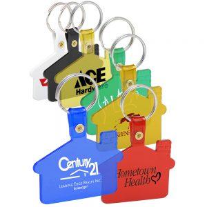 House Shaped Soft Key Tags
