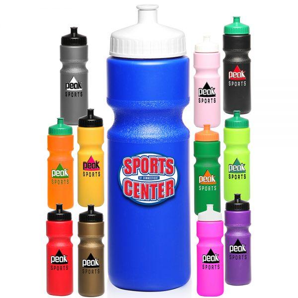 28 oz Push Cap Plastic Water Bottles