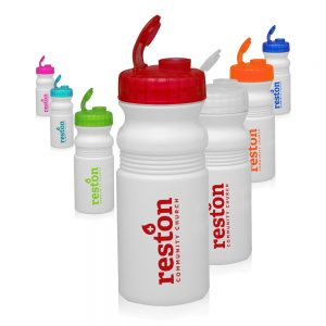 20 oz Flip Top Plastic Bike Water Bottles