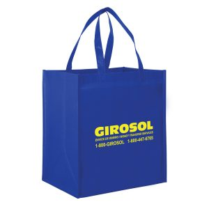 LN131015-Screen Print Gloss Laminated Designer Grocery Tote Bag