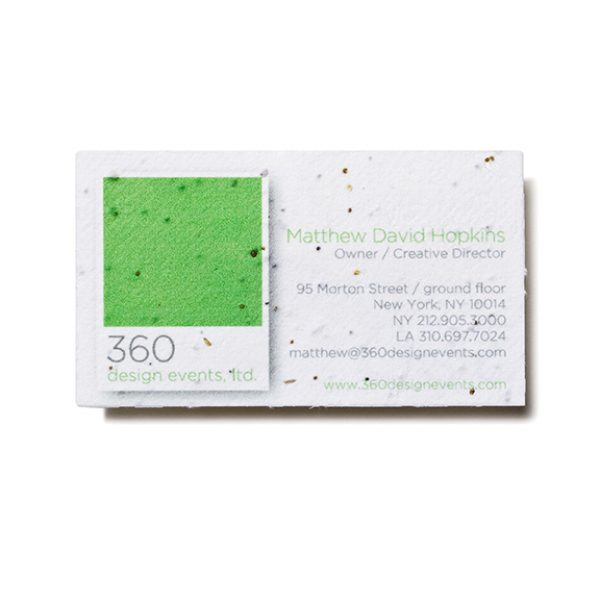 Seed Paper Business Card Bag Promos Direct Plantable Promos