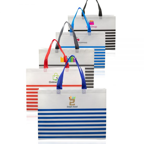Seaside Striped Tote Bags