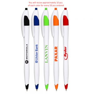 Derby Ballpoint Pens Assorted Colors ABP323AST
