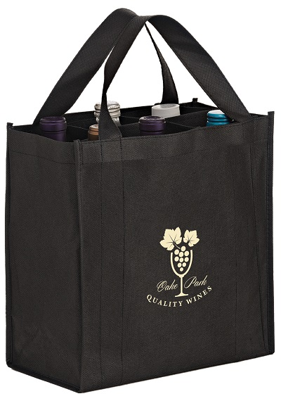 VINER6 6 Bottle Non Woven Wine Tote Bag