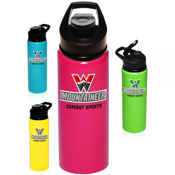 25 oz Aluminum Sports Bottles with Lid AAB155