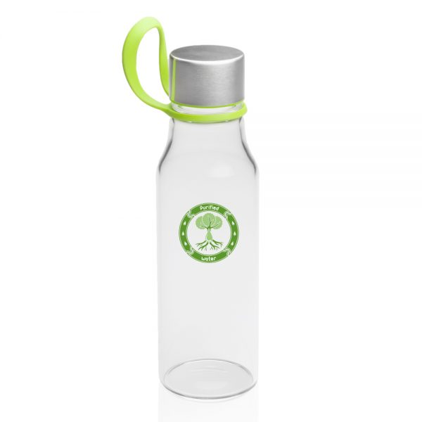 17 oz Glass Water Bottles with Carrying Strap AWB325