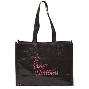 TO6559 5th Ave Laminated Woven Tote Bag