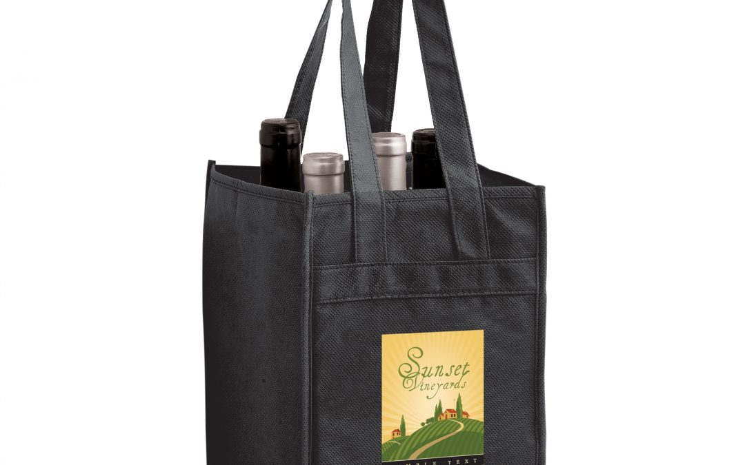 Eco Friendly Wine Tote Bags - Custom Wholesale Promotional Products