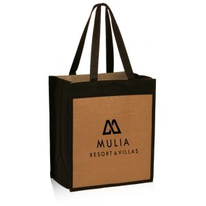 Jute Color Panel Tote Bags ATOT3755