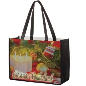 SUB16612 Dye Sublimation PET Non Woven Sublimated Tote Bag