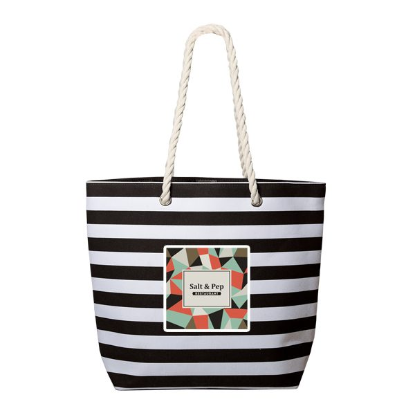 TO6582-C Mariner Chic Polycotton Striped Tote