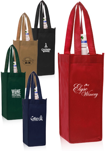 Non-Woven Vineyard One Bottle Wine Bags ATOT115